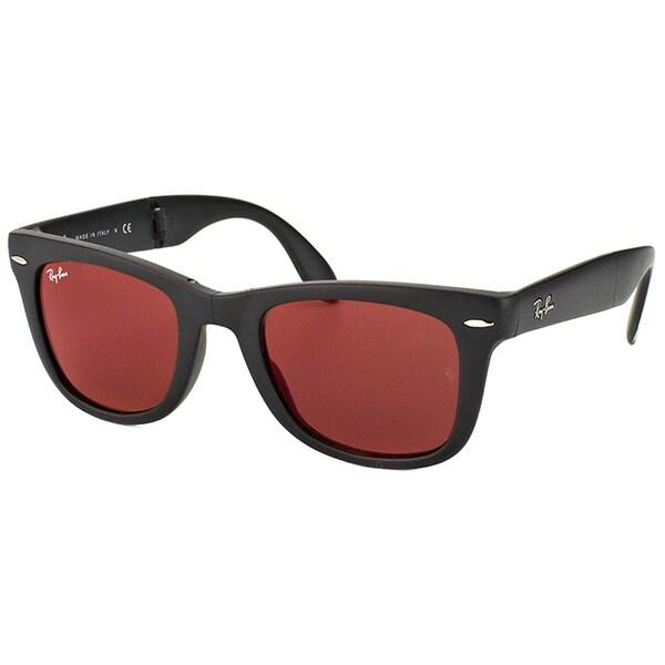 Ray Ban Unisex 'Wayfarer' Folding Matte Black Sunglasses 16399915