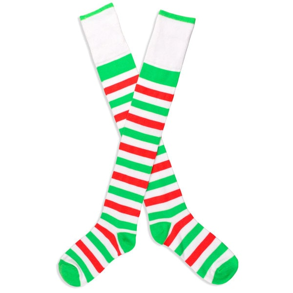 TeeHee Christmas Holiday Stripe Knee-High Socks