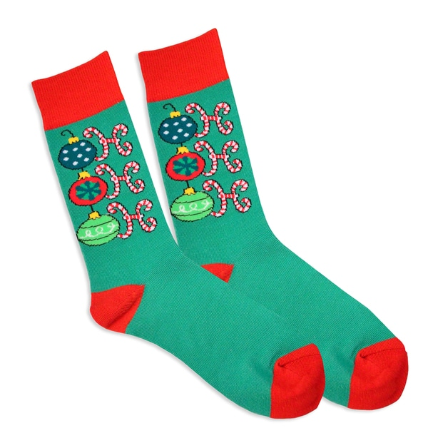 Men's Christmas Holiday Ho Ho Ho Crew Socks