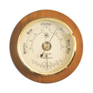 Bey Berk Barometer with Thermometer