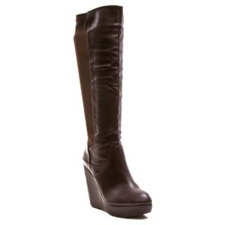 Gomax Women's Fullhouse-14 Mid-Calf Wedge Boot