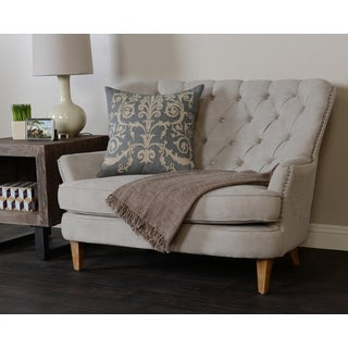 Kosas Home Milan 2-seater Dove Sofa Loveseat