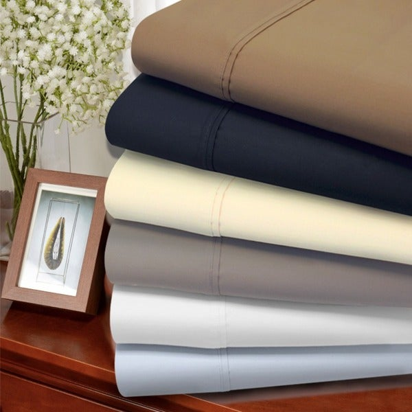 Luxor Treasures 1200 Thread Count Cotton Rich Solid Sheet Set (As Is Item)
