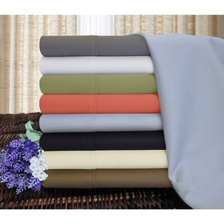 Luxor Treasures 1200 Thread Count Cotton Blend Solid Sheet Set
