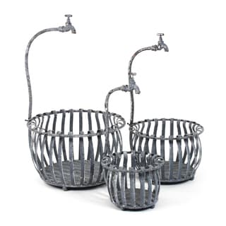 Rustic Metal Bucket (set of 3)