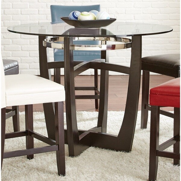 Greyson Living Olivia 2 Tone Medium Cherry Counter Height Dining Table