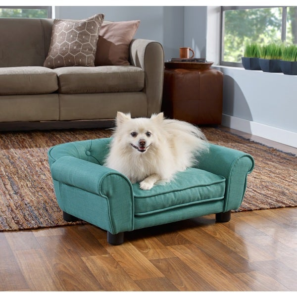Enchanted Home Pet Sydney Linen Tufted Pet Bed Sofa Furniture 17708058