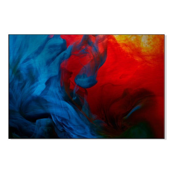 Abstract paint splash' Printed on Metal Wall Art