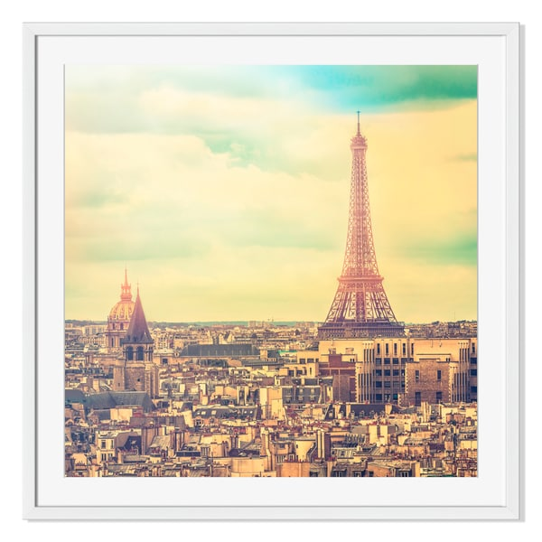 Eiffel Tower in late afternoon ,Paris Print on Paper Frame
