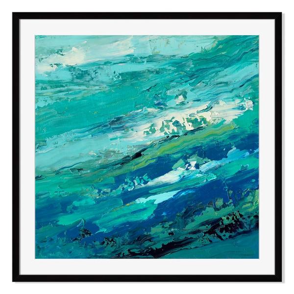 Choppy Waters Print by Maxine Price on Paper Frame