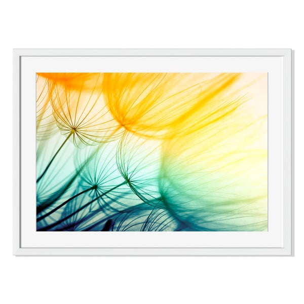 Dandelion Print on Paper Frame