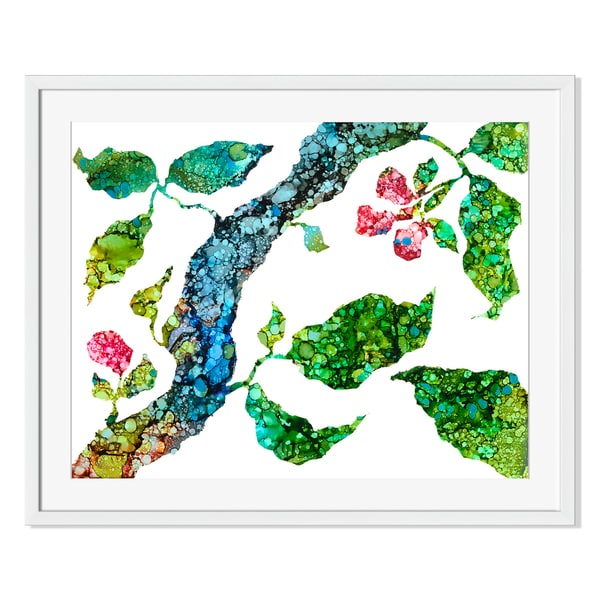 Branching Out III Print by Carole Pena on Paper Frame