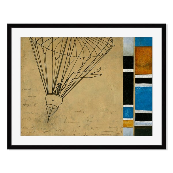 Aerial Transportation Print by St. John on Paper Frame
