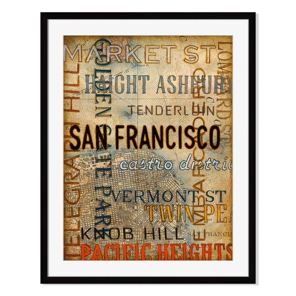 San Francisco Print by St. John on Paper Frame