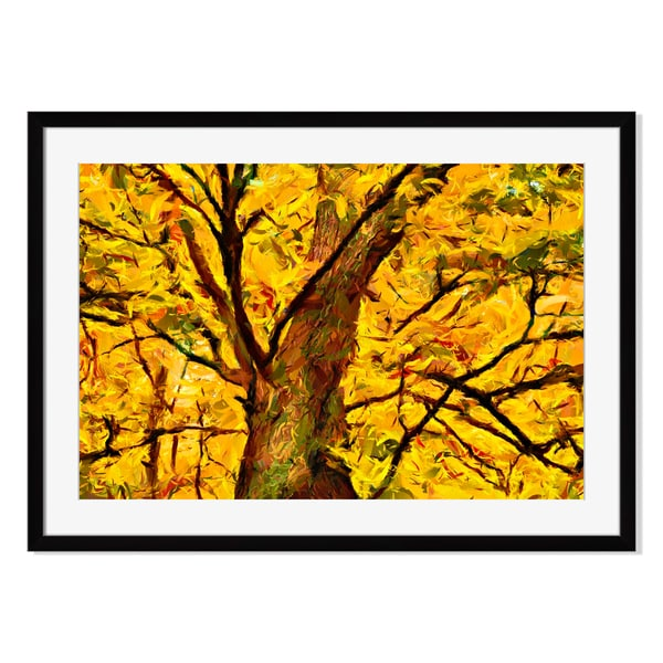 Tree Paint Print by Solar Roman on Paper Frame
