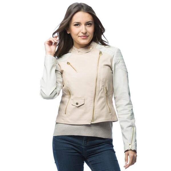 Women's Asymmetrical Zip Front Faux Leather Jacket