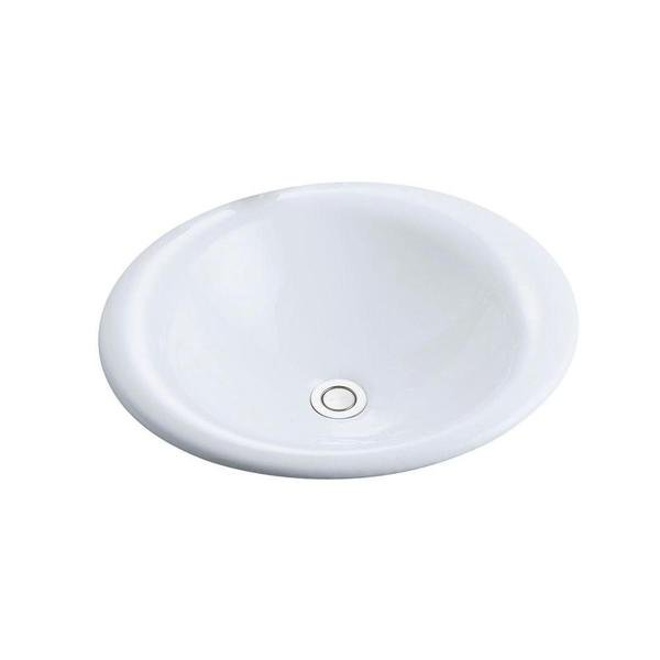 Kohler Iron Bell Vessel Sink in White