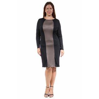 24/7 Comfort Apparel Women's Plus Size Two-Tone Sheath Dress