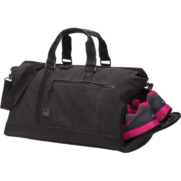 Bellino Canvas Leather Noble Weekend Duffel Bag