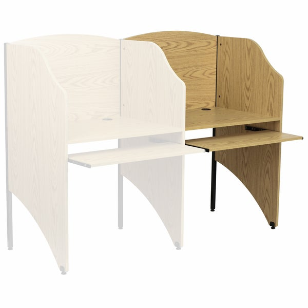 Add-on Study Carrel in Nebula Finish