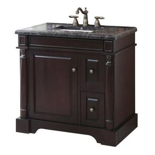 Crawford & Burke Hancock Vanity Base with Mosaic Top and Sink