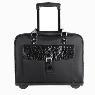 Heritage Travelware Ladies' Double Gusset Rolling 16-inch Laptop Tote