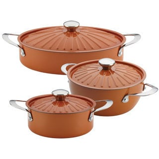 Rachael Ray Cucina Oven to Table Nonstick Cookware 6-Piece Set