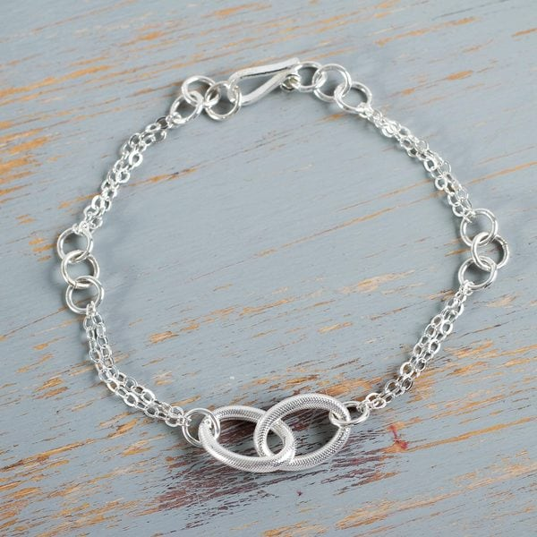 Handcrafted Sterling Silver 'Together in Beauty' Bracelet (Peru)