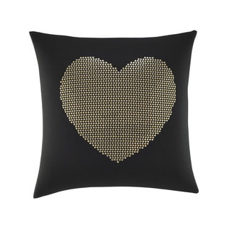 Betsey Johnson 18-inch Heart Sequin Decorative Pillow