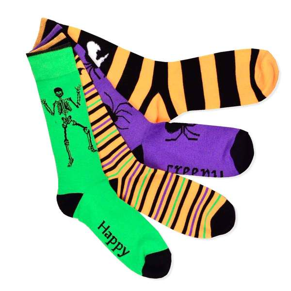 Halloween Socks - Scary Creepy Men's 4-pair Crew Socks