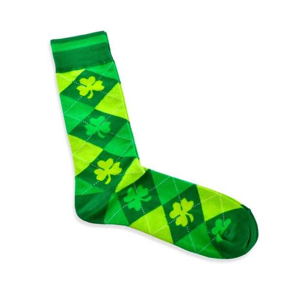 TeeHee Argyle St. Patricks Day Cotton Crew Socks (9-11)