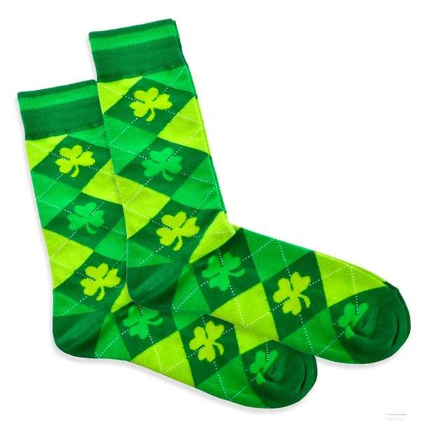 TeeHee Argyle St. Patricks Day Cotton Crew Socks (10-13)