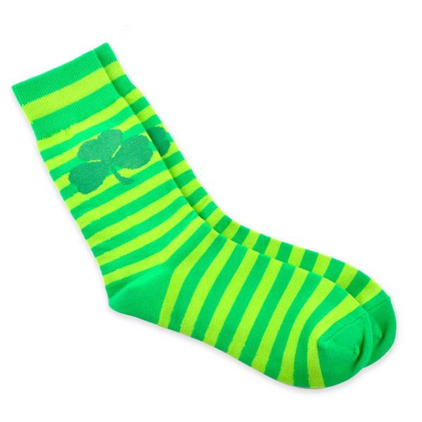 TeeHee Shamrock Stripe St. Patricks Day Cotton Crew Sock