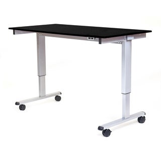 "Luxor STANDE-60-AG/BO Stand Up 60"" Electric Desk"