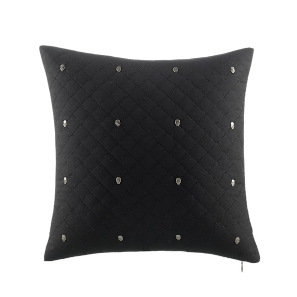 Betsey Johnson Quilted Skull Studs Decorative Pillow