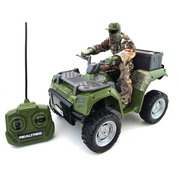 Realtree 1:14 Scale Remote Control ATV with Hunter