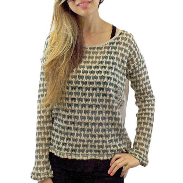 Relished Sagebrush Chiffon Knit Top