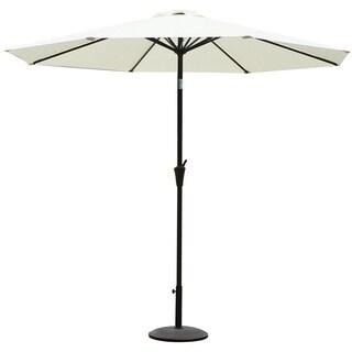 Adeco Patio Market Aluminum/Polyester Umbrella