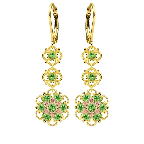 Lucia Costin Silver, Light Green Austrian Crystal Earrings 16405905