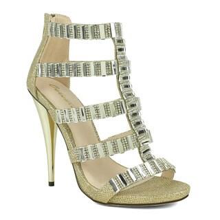 Celeste Women's Riva-01 Embellished High Heeled Women's Dress Sandal