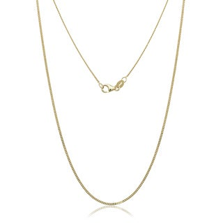 "10K Yellow Gold Gourmette Chain Necklace (16""-24"")"