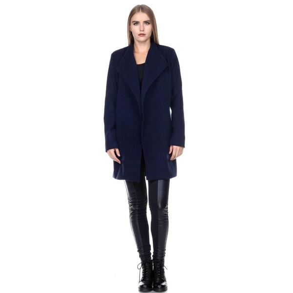 Stanzino Women's Wide Collar Belted Robe Coat