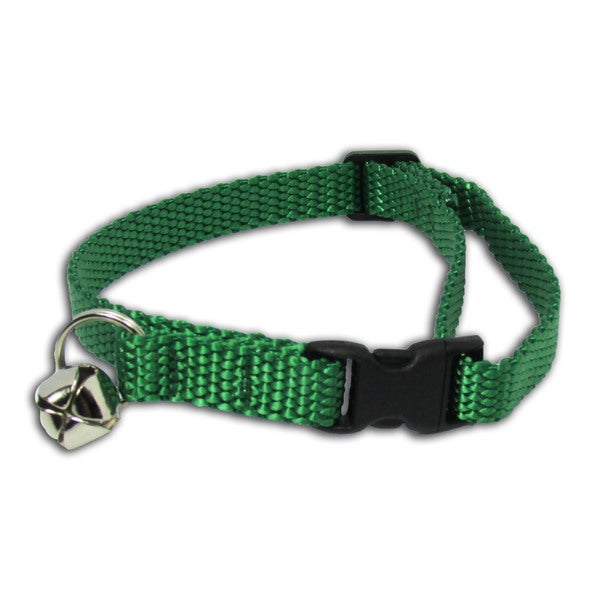 Petflect Forest Green Breakaway Cat Collar With Bell