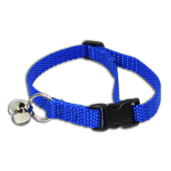 Petflect Blue Breakaway Cat Collar With Bell