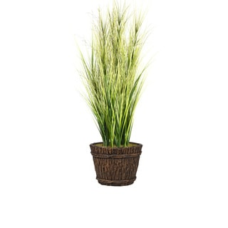 68-inch Tall Onion Grass with Twigs in Planter