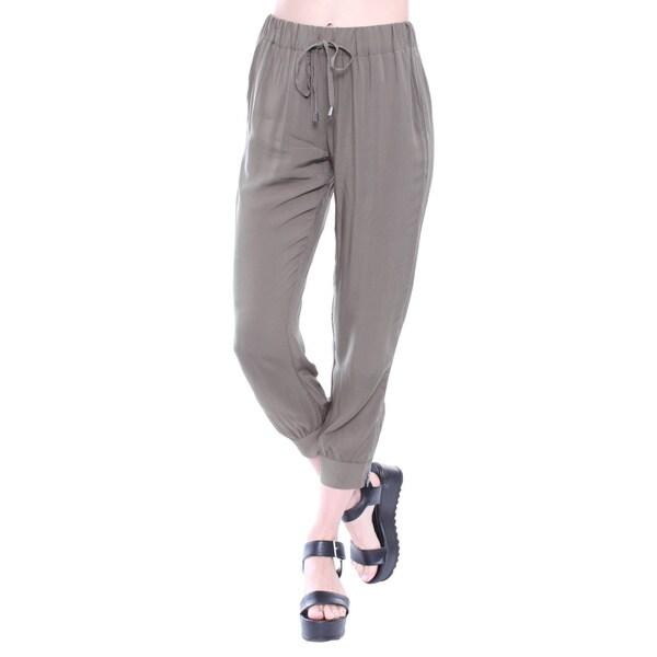 Junior's Olive Jogger Chic Pants E2336P