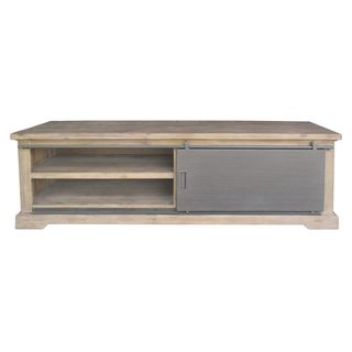 Aurelle Home French Distresed Wood Media Stand