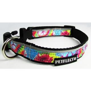 Petflect Tie Die Reflective Dog Collar