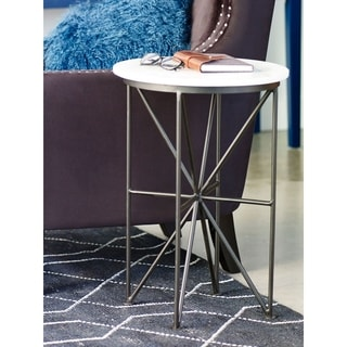 Aurelle Home Antonio Glass Accent Table