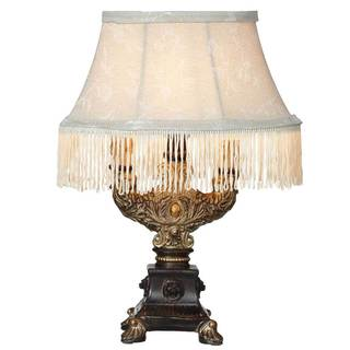 Downtown Abbey Aristocratic Collection Fringe Accent Lamp with Ornate Base